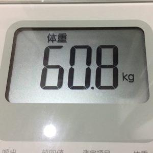 体幹リセットダイエット3日目の体重