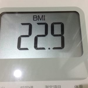 体幹リセットダイエットチャレンジ3日目BMI