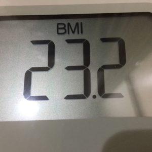 体幹リセットダイエット5日目のBMI