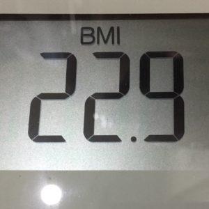 体幹リセットダイエット6日目のBMI