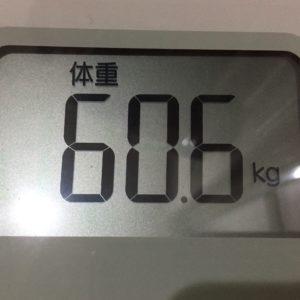 体幹リセットダイエット7日目の体重