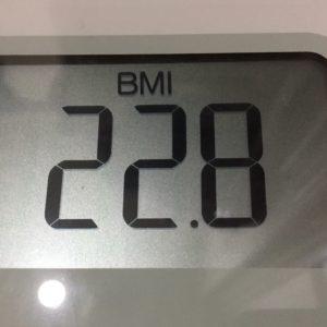 体幹リセットダイエット7日目のBMI