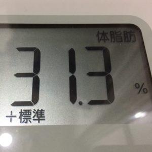 体幹リセットダイエット7日目の体脂肪