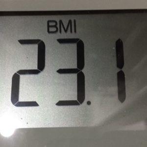 体幹リセットダイエット8日目のBMI