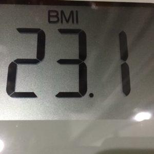 体幹リセットダイエット9日目のBMI