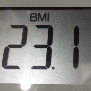 体幹リセットダイエット10日目のBMI