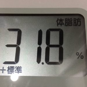体幹リセットダイエット11日目の体脂肪