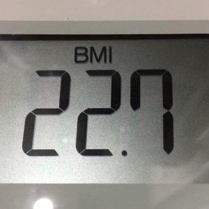 体幹リセットダイエット15日目のBMI
