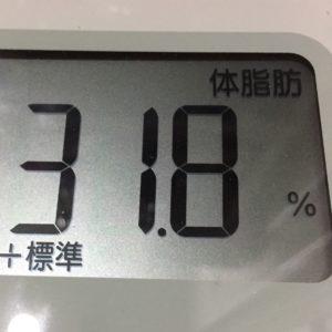 体幹リセットダイエット15日目の体脂肪