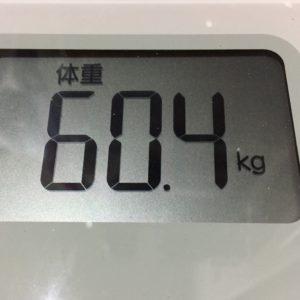 体幹リセットダイエット16日目の体重