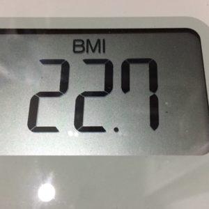 体幹リセットダイエット16日目のBMI