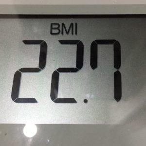 体幹リセットダイエット17日目のBMI