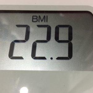 体幹リセットダイエット18日目のBMI