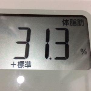 体幹リセットダイエット18日目の体脂肪