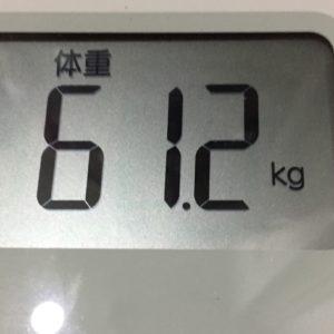 体幹リセットダイエット19日目の体重