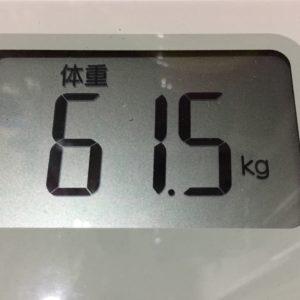体幹リセットダイエット20日目の体重