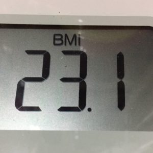 体幹リセットダイエット20日目のBMI