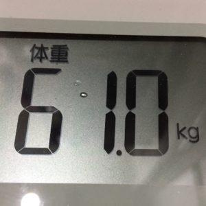 体幹リセットダイエット23日目の体重