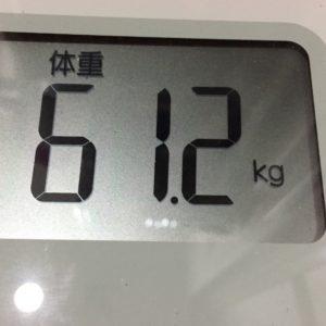 体幹リセットダイエット24日目の体重
