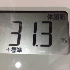 体幹リセットダイエット24日目の体脂肪