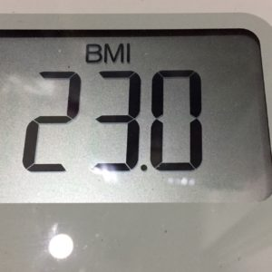 体幹リセットダイエット26日目のBMI