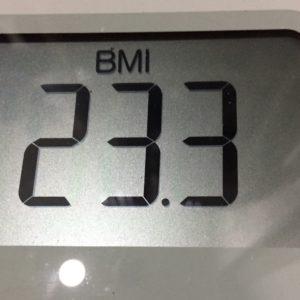 体幹リセットダイエット29日目のBMI