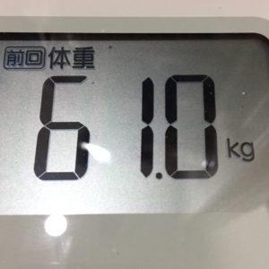 体幹リセットダイエット30日目の体重