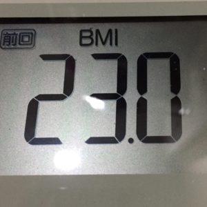 体幹リセットダイエット30日目のBMI