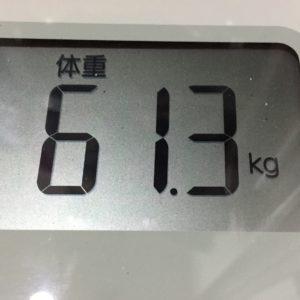 体幹リセットダイエット31日目の体重