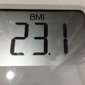 体幹リセットダイエット31日目のBMI