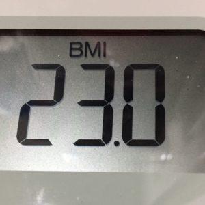 体幹リセットダイエット32日目のBMI