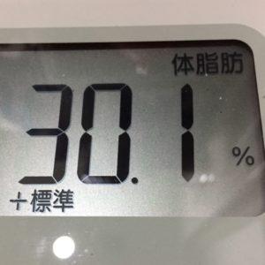 体幹リセットダイエット32日目の体脂肪