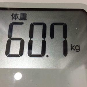 体幹リセットダイエット33日目の体重