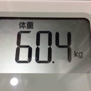 体幹リセットダイエット34日目の体重