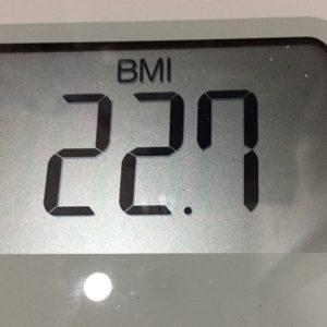 体幹リセットダイエット34日目のBMI