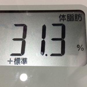 体幹リセットダイエット34日目の体脂肪