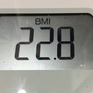 体幹リセットダイエット35日目のBMI