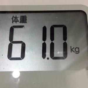 体幹リセットダイエット36日目の体重