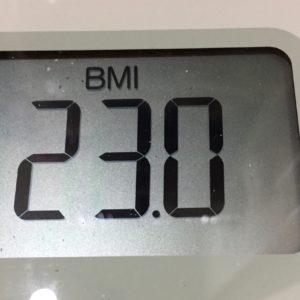 体幹リセットダイエット36日目のBMI