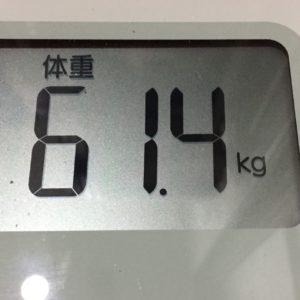 体幹リセットダイエット37日目の体重
