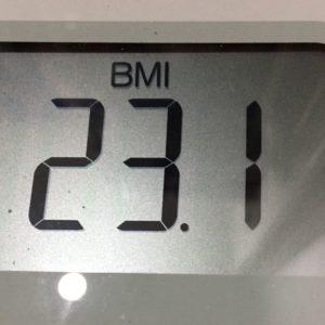 体幹リセットダイエット37日目のBMI