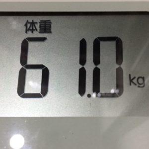 体幹リセットダイエット39日目の体重