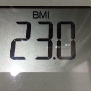 体幹リセットダイエット39日目のBMI