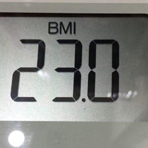 体幹リセットダイエット40日目のBMI