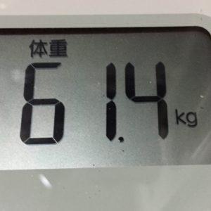 体幹リセットダイエット41日目の体重