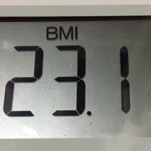 体幹リセットダイエット41日目のBMI