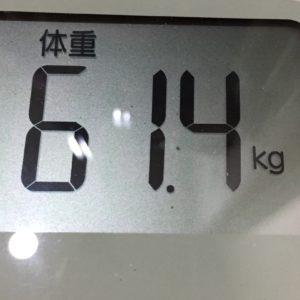 体幹リセットダイエット42日目の体重