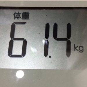 体幹リセットダイエット43日目の体重