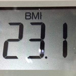 体幹リセットダイエット43日目のBMI