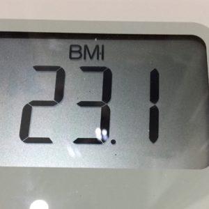 体幹リセットダイエット45日目のBMI